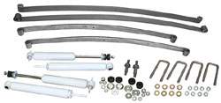 1953-56 Ford F-100 Truck Suspension Kit, Stage 1 Mono Leaf Springs and Shocks