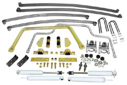 Suspension Kit, Stage 2 with Mono Leaf Springs, 1947-55 Chevy, GMC Truck 1st Series