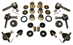 1962-67 Chevy Nova Front Suspension Rebuild Kit, Rubber Bushings