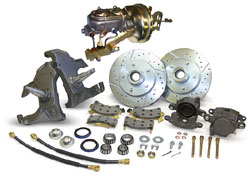 "1966-70 Chevy Impala Power Disc Brake Conversion Kit with 2""Drop Spindles"