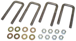 1948-64 Ford F-1 and Ford F-100 Truck, Leaf Spring Ubolt Kit, REAR