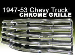 Chrome Grille, 1947-53 Chevy, GMC Truck, Reproduction