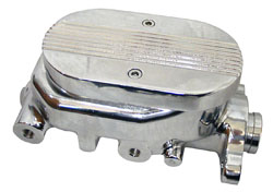 Street Rod, Hot Rod and Classic Truck Chromed Aluminum Master Cylinder with Custom Lid
