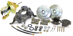 "1973-77 Chevy Chevelle, Malibu Power Disc Brake Conversion, 2"" Drop Spindles"