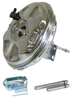 "Power Brake Booster, 11"" Single Diaphragm, Delco Moraine, Chrome Plated"