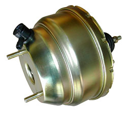 "Power Brake Booster, 8"" Dual Diaphragm, Zinc Plated"