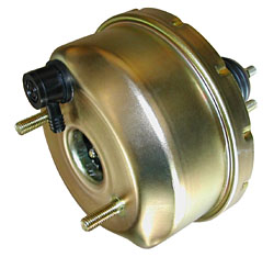 "Power Brake Booster, 7"" Single Diaphragm, Zinc Plated"